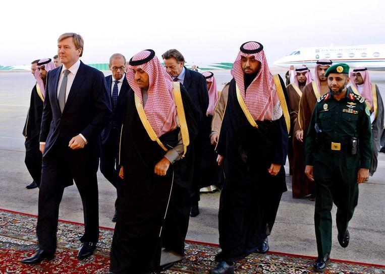 In 2015 bezochten koning Willem-Alexander en minister Koenders van buitenlandse zaken de Saudische hoofdstad Riyadh voor de uitvaart van koning Abdullah. Beeld EPA