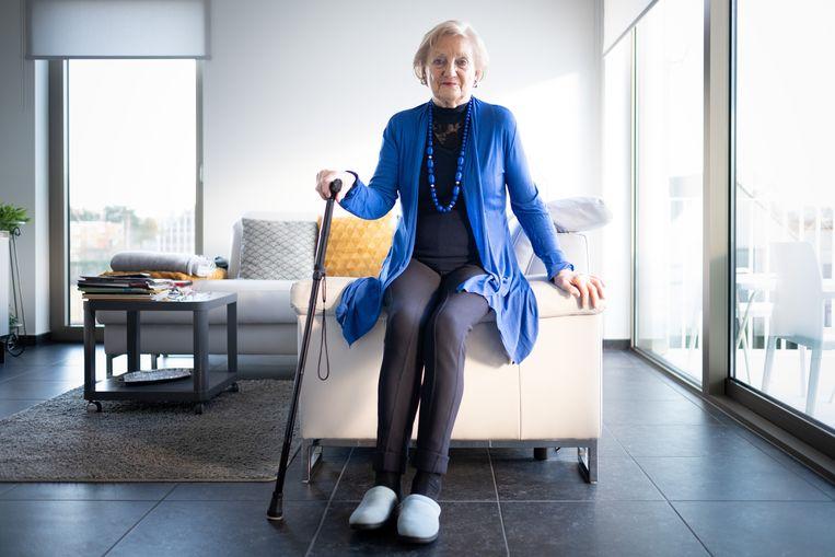 """Maria Boen (80) uit Lier brak haar heup bij een ongeval in de Lidl in Emblem. """"Ik werd aangereden door een rekkenvuller, maar Lidl wil zijn verantwoordelijkheid niet opnemen."""""""