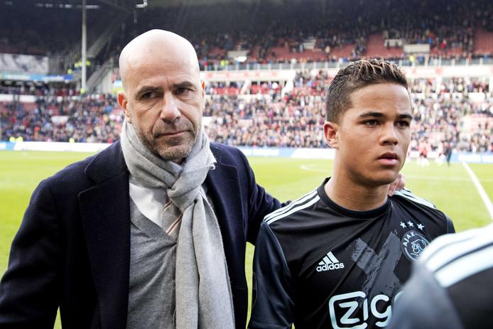 Justin Kluivert reageerde gefrustreerd na PSV-Ajax.