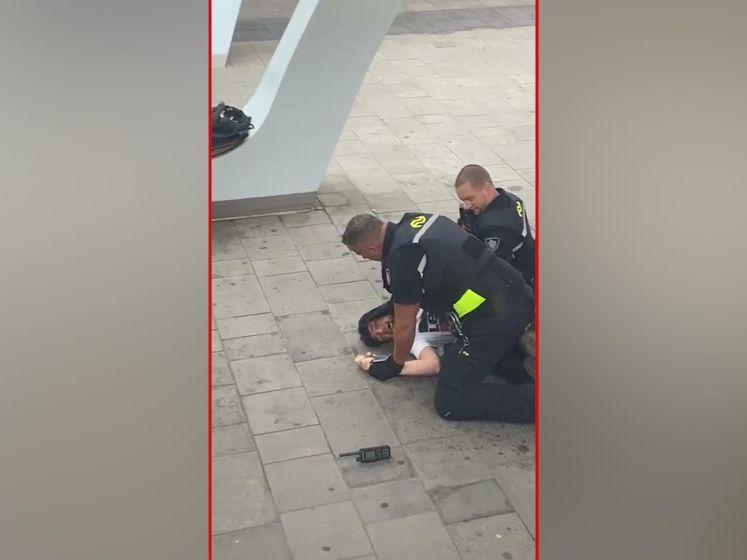 Hardhandige aanhouding van Maher (25) uit Nijmegen gefilmd