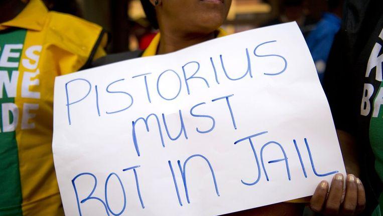 14 februari werd een mars gehouden door de Zuid-Afrikaanse vrouwenbeweging ANC Women's League Beeld anp