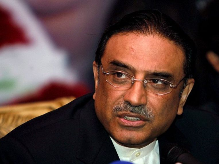 Zardari van de Pakistaanse Volkspartij (PPP) is de opvolger van de twee weken geleden afgezette Musharraf. Foto ANP/Rahat Dar Beeld