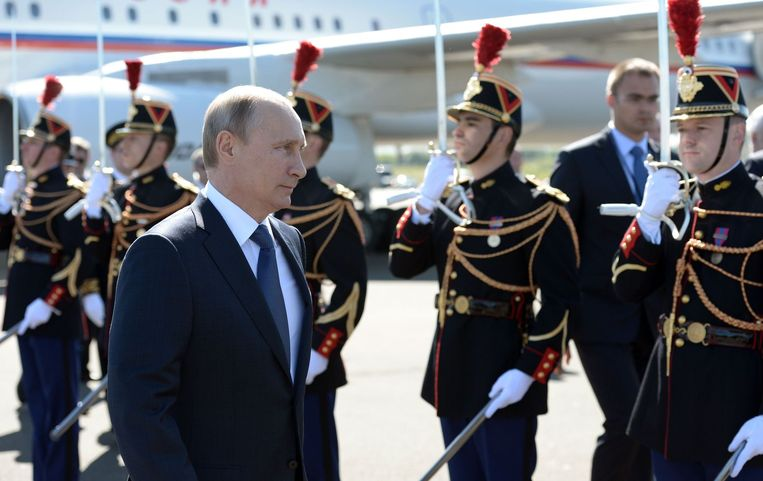Poetin in Deauville. Beeld afp