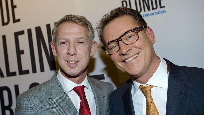 De Maastrichtse burgemeester Onno Hoes (links) en zijn partner Albert Verlinde.