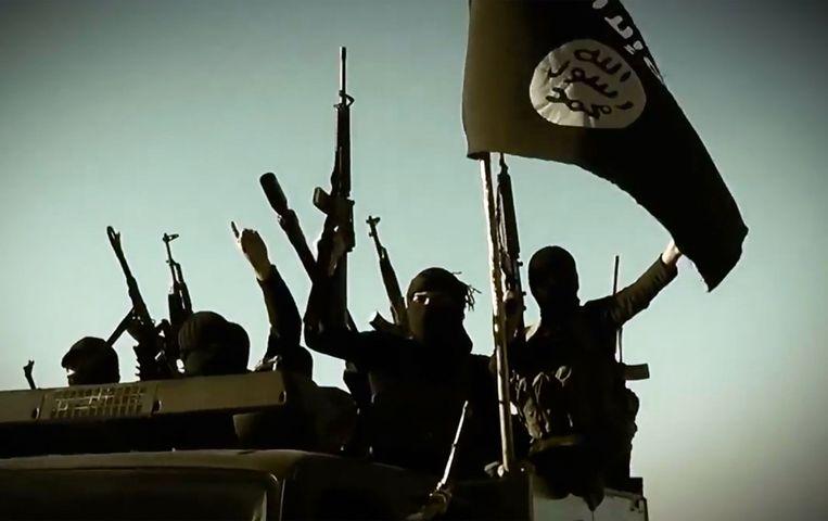 Archiefbeeld van IS-strijders in Irak.