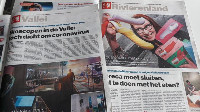 De maandagedities van Vallei en Rivierenland.