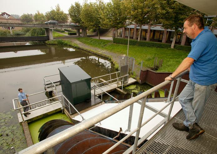 Het gemaal in De Leyens, dat hoort bij het hoogheemraadschap van Rijnland.
