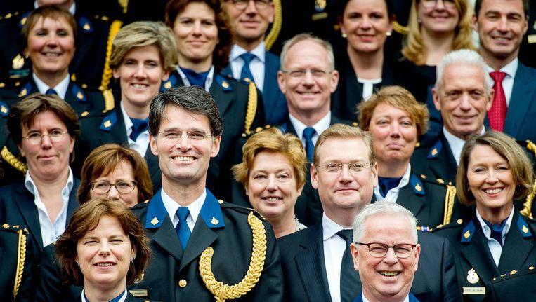 De politietop begin vorig jaar in Den Haag. Beeld anp
