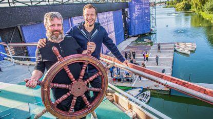 IN BEELD. Deze zomer zinkt de 'Titanic' in het Donkmeer in Berlare (samen met Michiel De Meyer en de vriend van James Cooke)