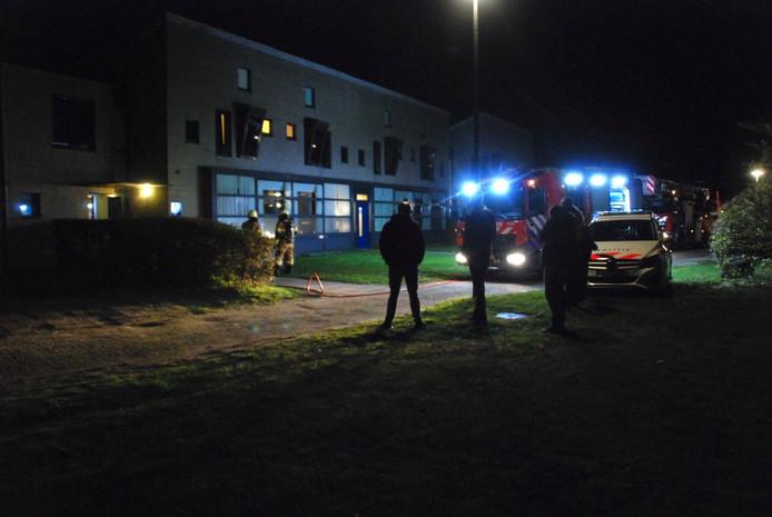 De brandweer kwam ter plaatse.