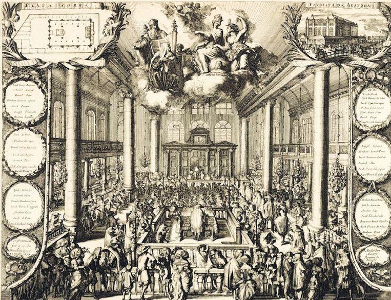 Inwijding van de Portugese Synagoge Beeld