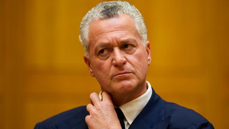 Bram Moszkowicz hoort in april 2013 van de tuchtrechter dat hij definitief uit de advocatuur is gezet. Beeld anp