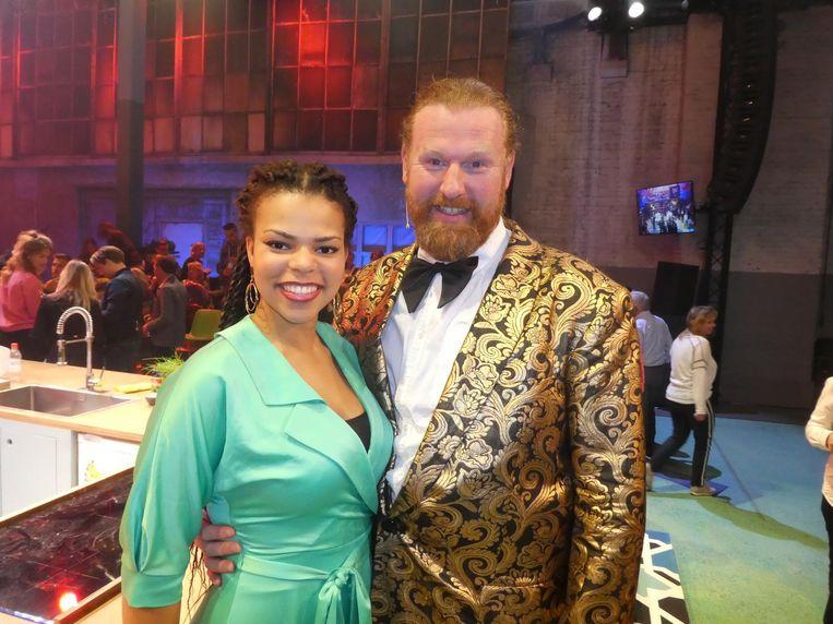 Castleden Charlene Sancho en Milan van Weelden, met zijn vet Poolse accent de komische noot. Nu kan dat nog. Beeld Hans van der Beek