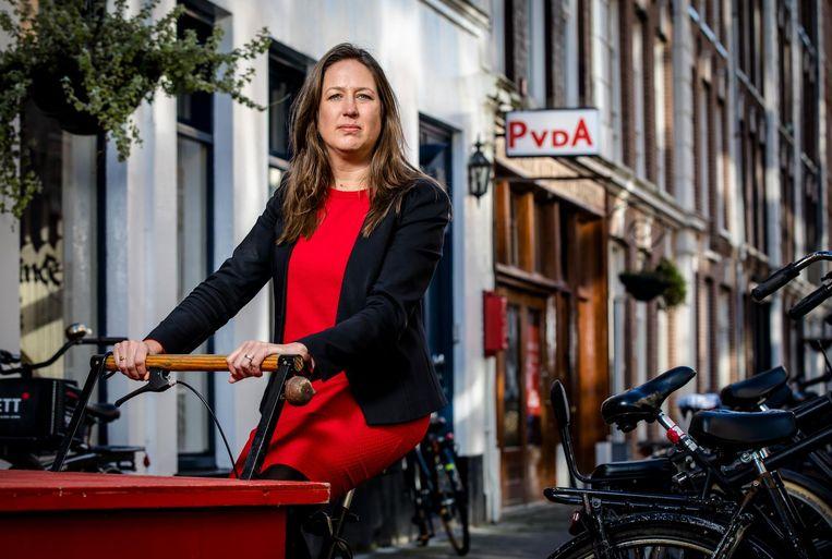 Marjolijn Moorman leidde de afgelopen jaren de PvdA-fractie in de raad, en was lijsttrekker bij de laatste verkiezingen. Beeld ANP