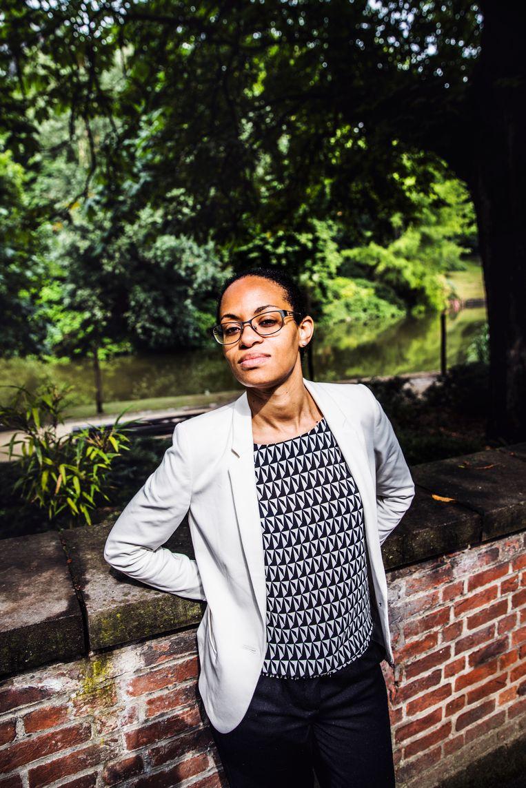 De zoektocht van Nadia Nsayi naar haar familiegeschiedenis was 'fascinerend', maar op sommige momenten werd ze echt geraakt. Beeld Aurélie Geurts