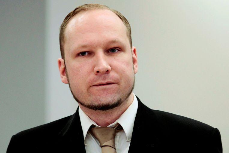 Noorse massamoordenaar Anders Behring Breivik. Beeld Reuters