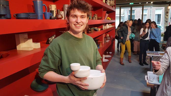 Barry Llewellyn uit Ierland met zijn winnende 'Triple Take'