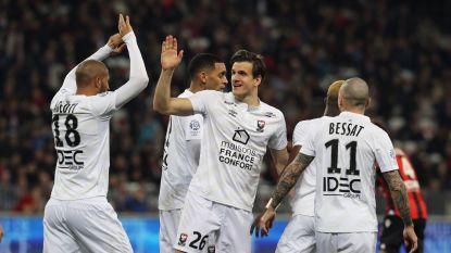 Goaltjesdief Santini (ex-Standard) en zijn Caen snoepen Nice dure punten af in titelstrijd