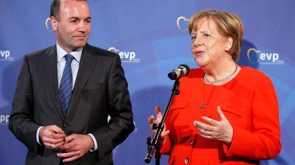 """Merkel """"kan niet zeggen"""" of 'Spitzenkandidaat' voor Europese topjob het gaat halen"""