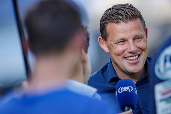 Trainer John Stegeman voor PEC Zwolle-Sparta Rotterdam.