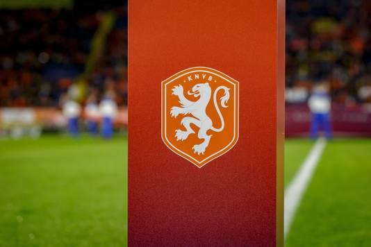 Het logo van de KNVB.