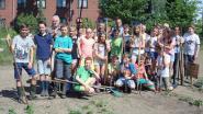 Leerlingen van basisschool De Toren Achterbos steken handen uit de mouwen in moestuin