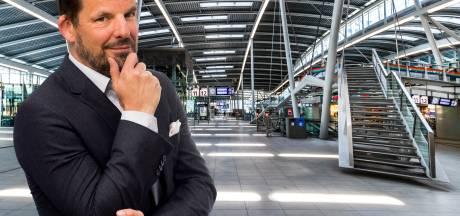 Harry Potter vertrok naar Zweinstein via het onzichtbare perron 9¾ . Het station in Utrecht is toegankelijk via een heuse fantoomtrap
