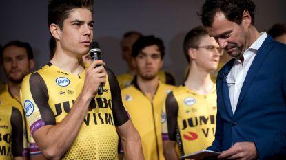 """Wout van Aert voorgesteld bij Team Jumbo-Visma: """"Dit voelt aan als een eerste schooldag"""""""