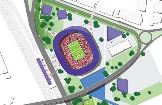 De derde optie bevindt zich in de Stadiondriehoek.
