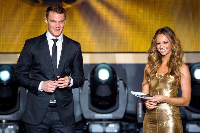 Manuel Neuer bij de uitreiking van de Gouden Bal Beeld getty
