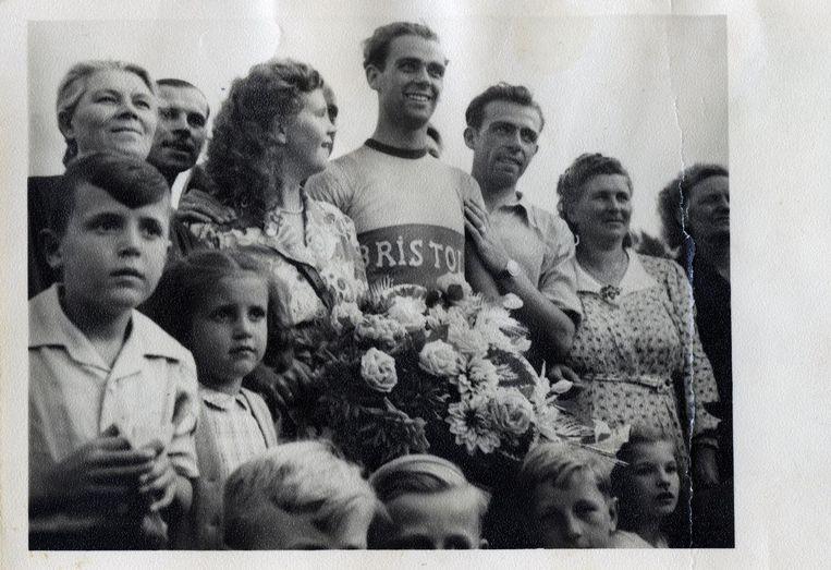 Rik Van Steenbergen won in 1949 het WK in Kopenhagen op een Bristol-fiets.