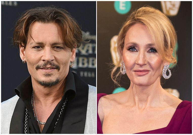 Johnny Depp en J.K. Rowling.