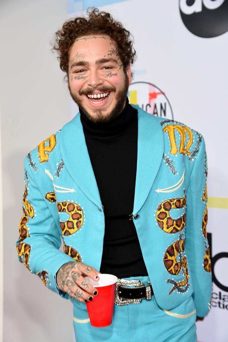 Post Malone in 2018. Beeld null