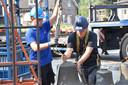 Hele takelproject werd rond het middaguur afgerond.