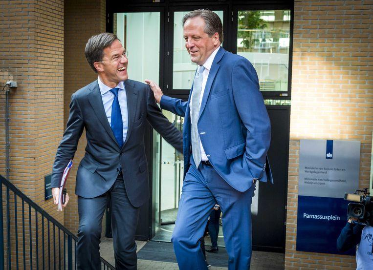Alexander Pechtold met Rutte in 2018.  Beeld ANP