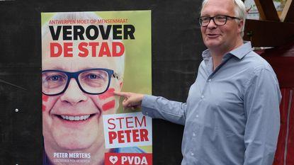 PVDA trapt campagne af met rode strepen op de wangen