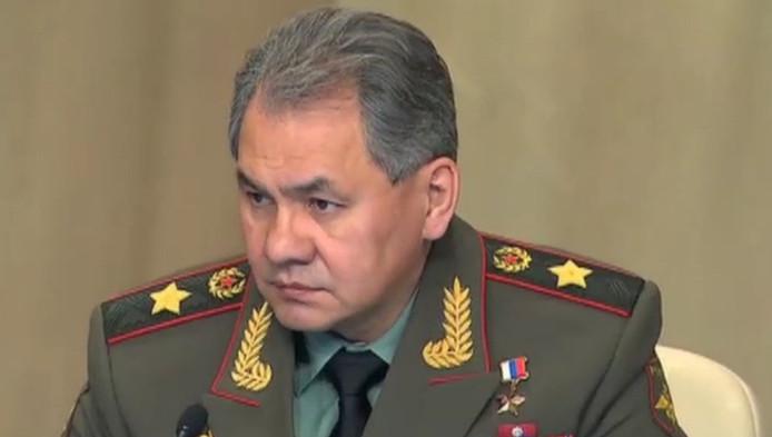 Le ministre russe de la Défense Sergueï Choïgou