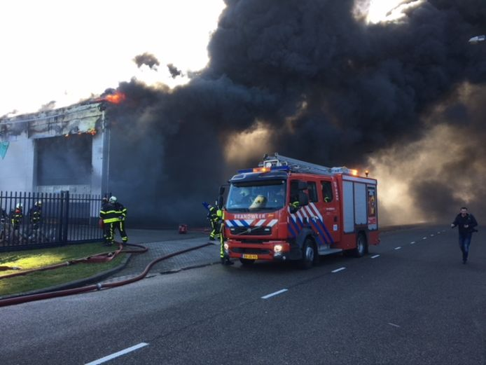 Grote brand in Oosterhout