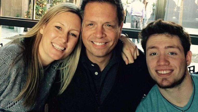 Justine Damond met haar verloofde Don en stiefzoon Zach.