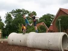 Nieuw zelfbedacht en zelfgemaakt speelplein voor 't Ravelijn in Ravenstein