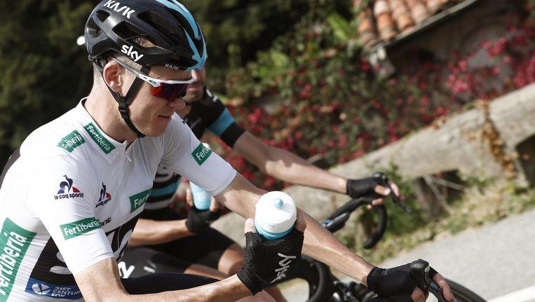 Chris Froome tijdens de 11de rit in de Vuelta. Beeld epa