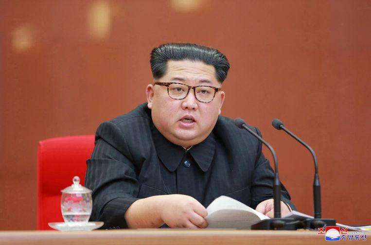 De Noord-Koreaanse leider Kim Jong-un. Beeld EPA