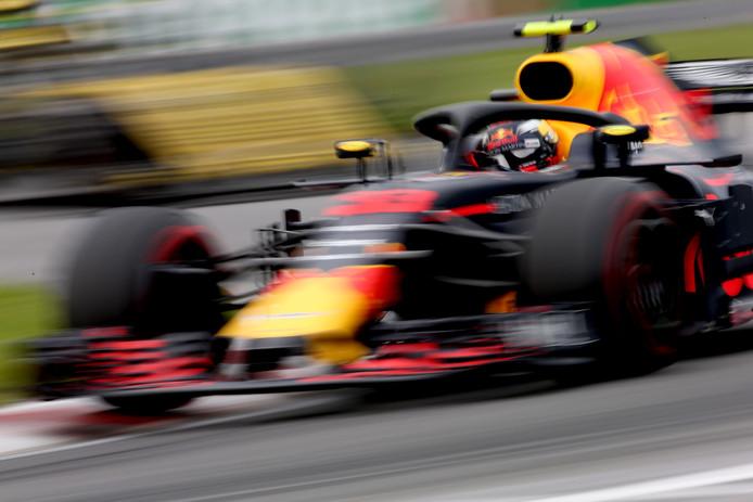 Max Verstappen tijdens de Grand Prix van Canada.