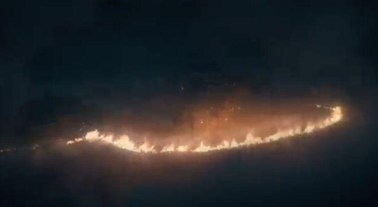 Winterfell wordt beschermd door een laag van vuur.