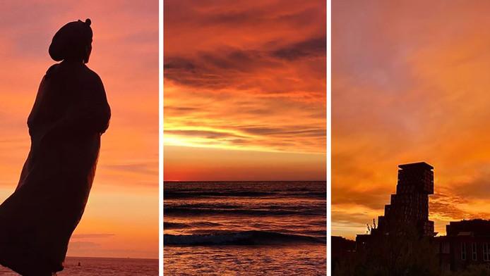 Enkele plaatjes van de zonsondergang