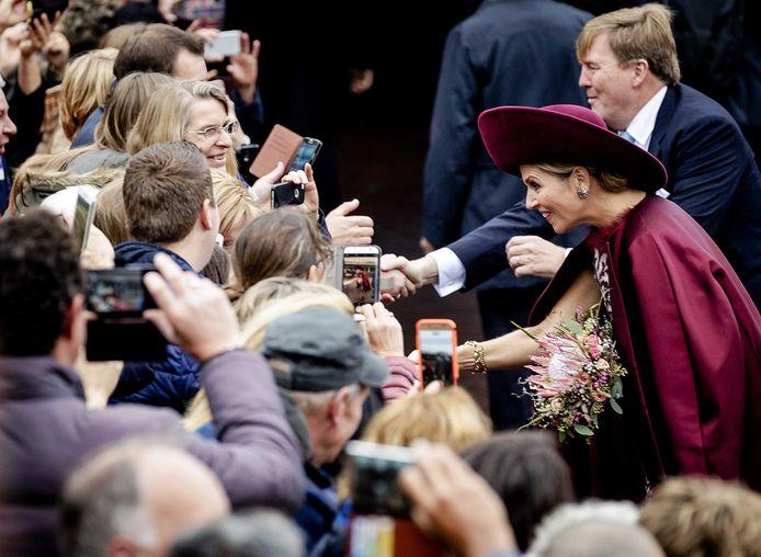 Koning Willem-Alexander en koningin Maxima brengen vandaag een streekbezoek aan het Eemland in de provincie Utrecht. Tijdens het bezoek staat het stroomgebied van de rivier de Eem centraal. Foto Robin van Lonkhuijsen