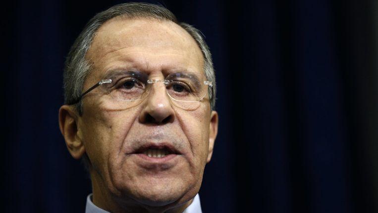 Minister van Buitenlandse Zaken Sergej Lavrov Beeld reuters