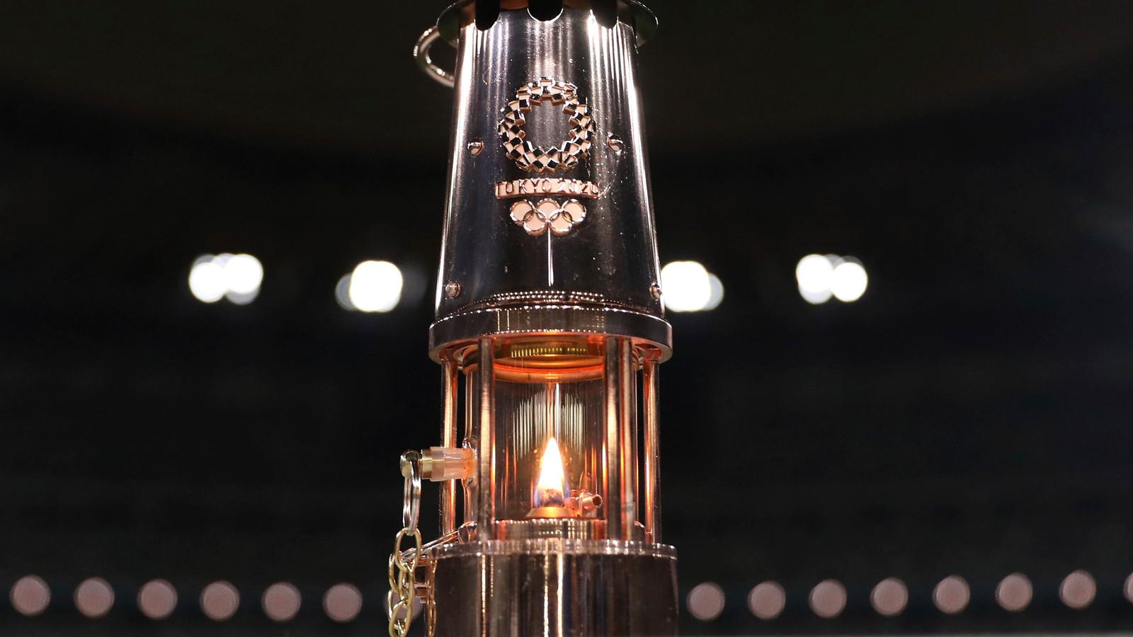 De olympische vlam.