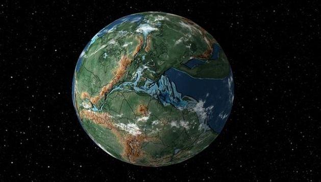 La Terre à l'époque de la Pangée.