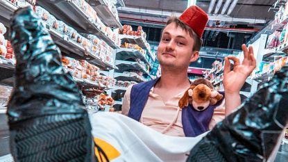 Maarten Vancoillie vliegt rond als Aladdin